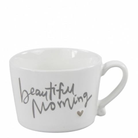 Bastion Collection Henkeltasse groß 'Beautiful Morning' grey