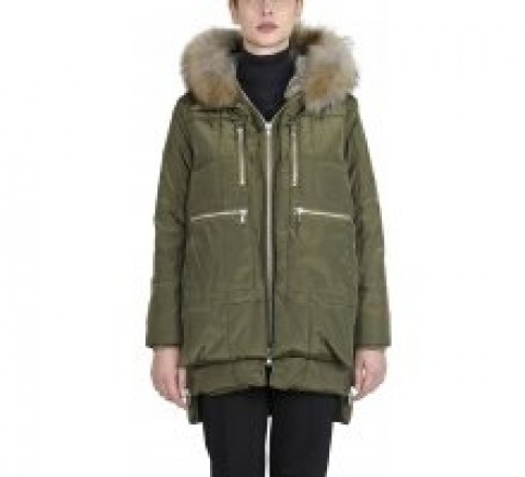 Canadian Classics Steppjacke Bay Fortune mit Fellbesatz - army