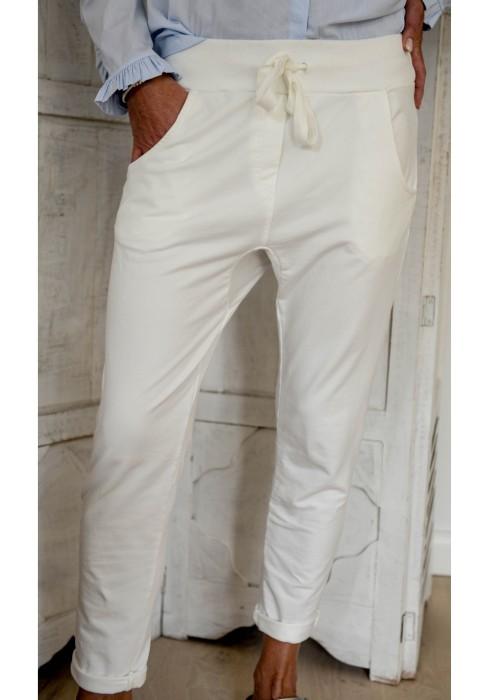Milano Hose - Coriana - Jogpant - weiß