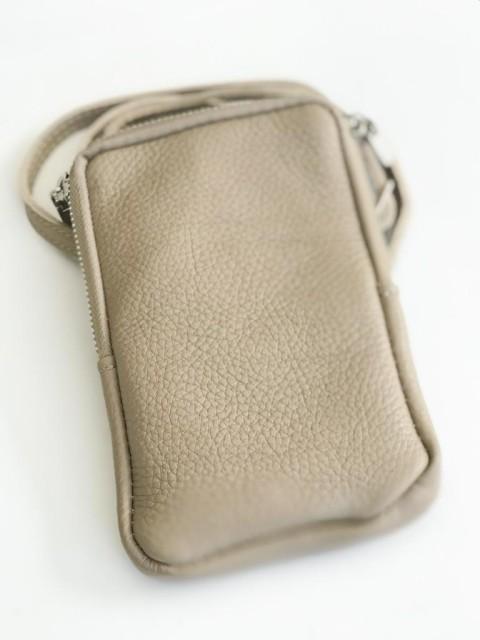 Handy Umhängetasche beige