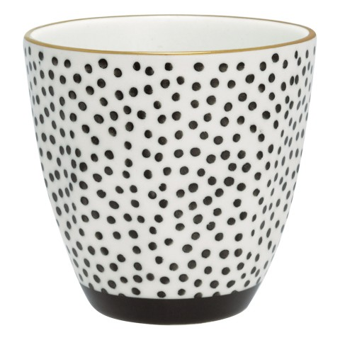 GreenGate Latte Cup Dot black/gold