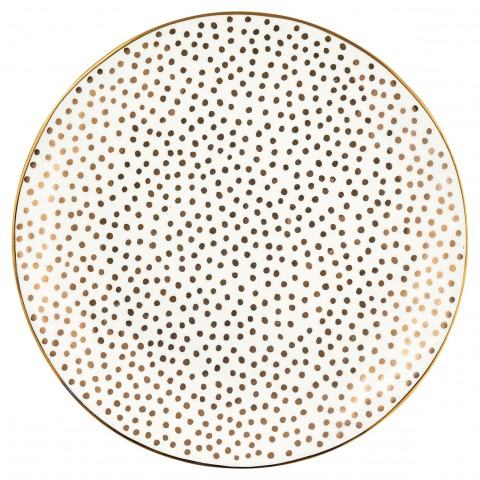 GreenGate Frühstücksteller Dot gold