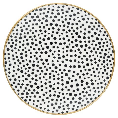 GreenGate Frühstücksteller Dot black w/gold