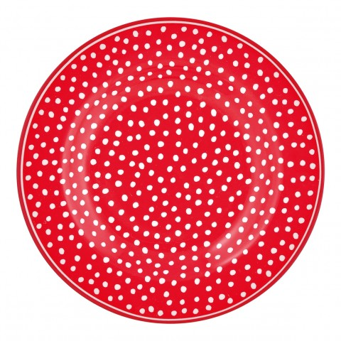 GreenGate kleiner Teller Dot red