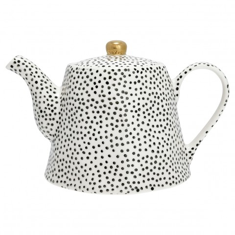 GreenGate Teekanne Dot black w/gold