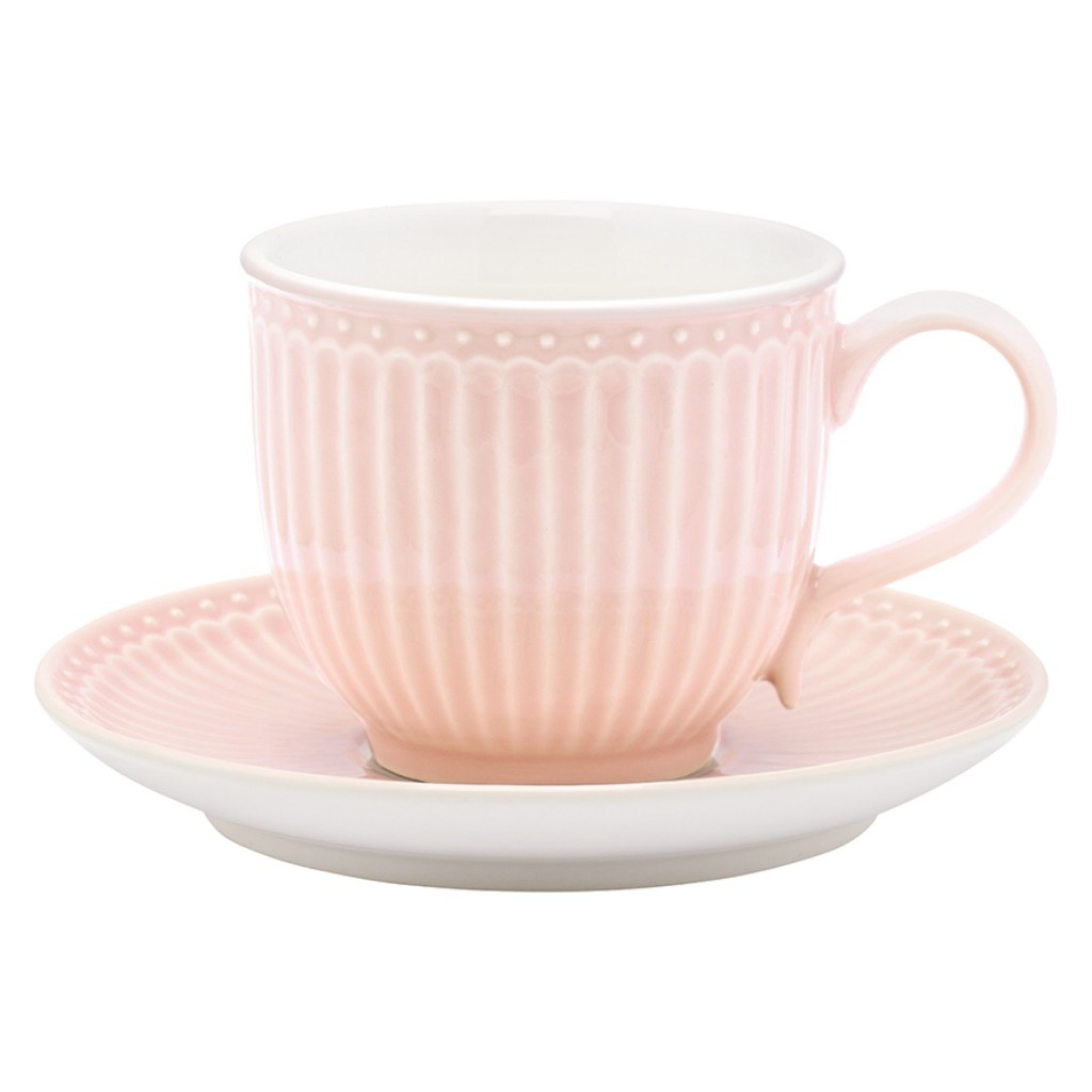 GreenGate Tasse/Untertasse Alice pale pink - GreenGate - Home & Baby