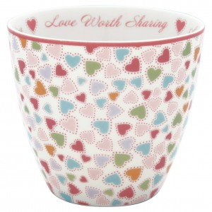 GreenGate Latte Cup  Love pastel mix