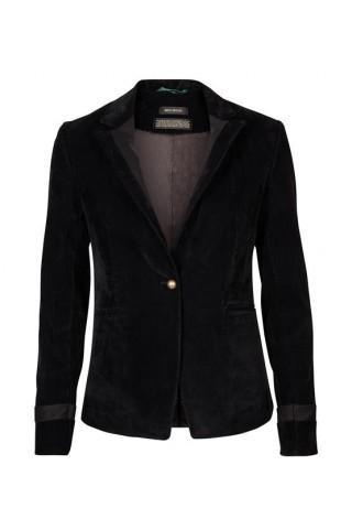 MOS MOSH - BLAKE Velvet Blazer black