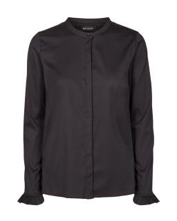 MOS MOSH - Bluse - Mattie Shirt - Rüschenbluse - schwarz