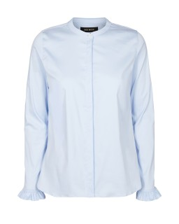 MOS MOSH - Bluse - Mattie Shirt - Rüschenbluse - light blue