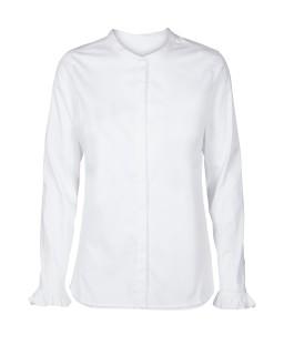 MOS MOSH - Bluse - Mattie Shirt - Rüschenbluse - weiß