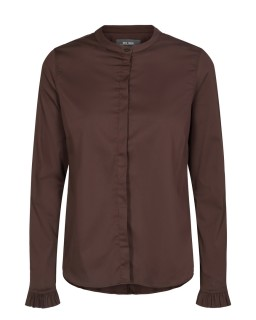MOS MOSH - Bluse - Mattie Shirt - Rüschenbluse - coffee bean
