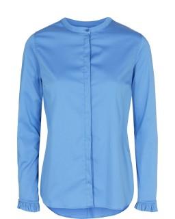 MOS MOSH - Bluse - Mattie Shirt - Rüschenbluse - ultramarine