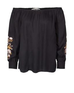 MOS MOSH Bluse mit Stickerei - Reed - black