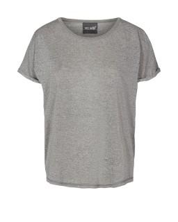 MOS MOSH - Shirt Kay Tee grey melange mit Lurex