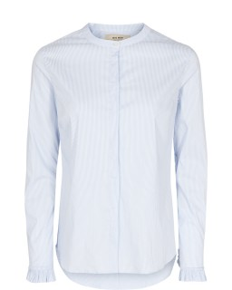 MOS MOSH Bluse Mattie Shirt Stripe light blue