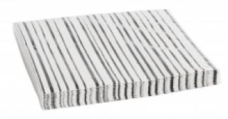Nordal Papierserviette schwarz/weiß gestreift 20 Stück