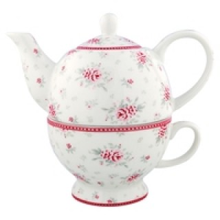 GreenGate Tea for one Flora white