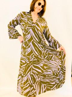 Emily van den Bergh Maxikleid mit Volants khaki