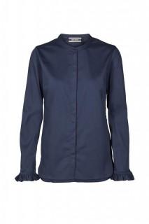 MOS MOSH - Bluse - Mattie Shirt - Rüschenbluse - nightblue