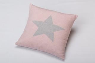 Fussenegger Kissenhülle in rosa mit grauem Stern