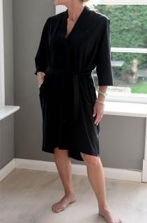 Penn&Ink Kleid mit Gürtel - black