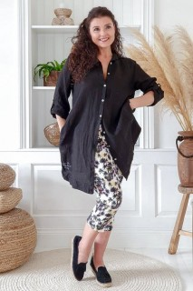 BYPIAS Bluse - Another day Linen black