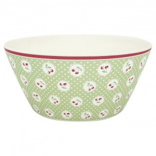 GreenGate Bambus Bowl Cherry Berry pale green large