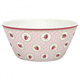 GreenGate Bambus Bowl Strawberry pale pink small