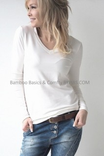 BYPIAS Shirt - Bamboo Basics Blouse white