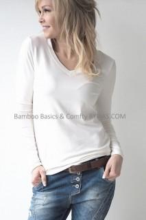 BYPIAS Shirt - Bamboo Basics Blouse white