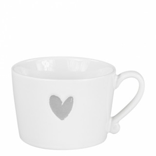 Bastion Collection Tasse groß 'Heart' grey