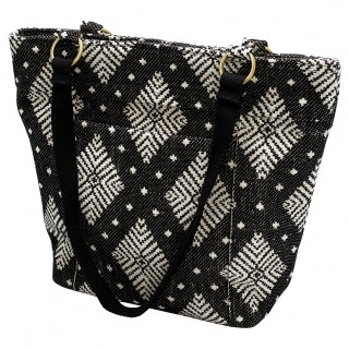 GreenGate Shopper black/offwhite medium