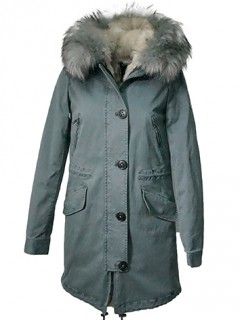 Blonde No.8 Parka Creek Desert Light Blue (herausnehmbares Kunstfell)