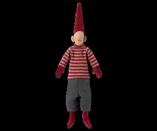 Maileg Nisse Weihnachtswichtel Mini Pixy in rotem Pulli
