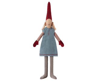 Maileg Nisse Weihnachtswichtel Mini Pixy in hellblauem Kleid
