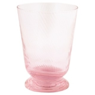 GreenGate Wasserglas pale pink with cutting