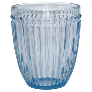 GreenGate Wasserglas Alice pale blue