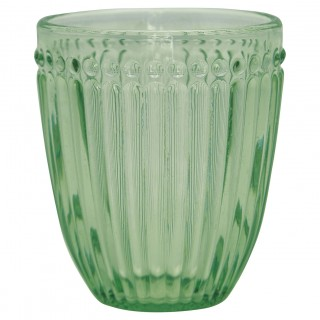 GreenGate Wasserglas Alice pale green