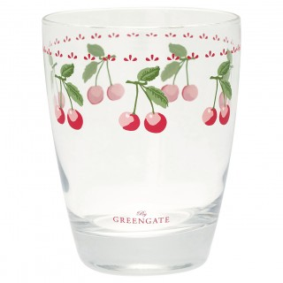GreenGate Wasserglas Cherry white