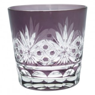 GreenGate Wasserglas Leaf Lavendar Crystal medium