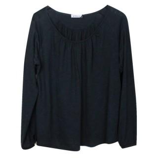 Grace T-Shirt Langarm schwarz