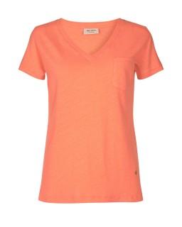 MOS MOSH - Shirt Maya V-neck fusion coral