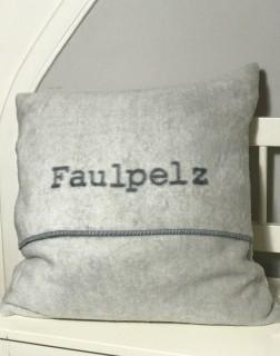 """Fussenegger Kissenhülle """"Faulpelz"""" Hellgrau"""