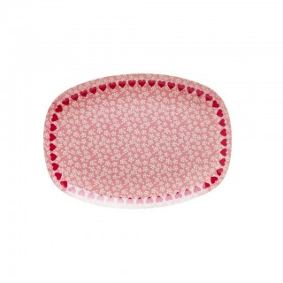Rice Melamin  Servierplatte 'Heart Print'