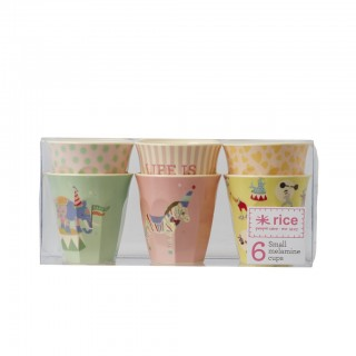 Rice Melamin Becher 'Girls Circus' small 6er Pack