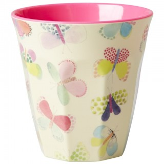 Rice Melamin Becher 'Butterfly Print'
