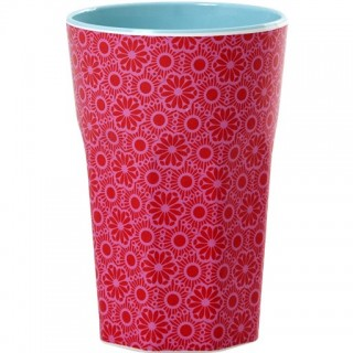 Rice Melamin Becher 'Red and Pink Marrakesh Print'