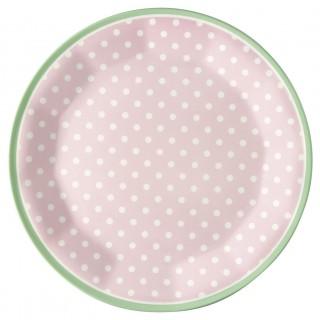 GreenGate Melamin Teller Spot pale pink