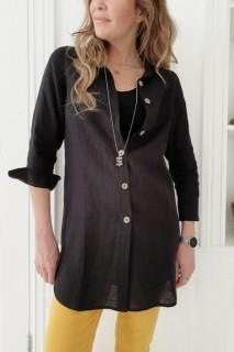 BYPIAS Bluse - Mia Linen black